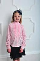 Красивая блузка для девочки в школу на длинный рукав.
