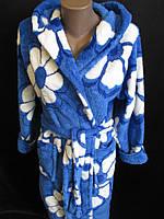Халаты из махровой ткани с цветами.
