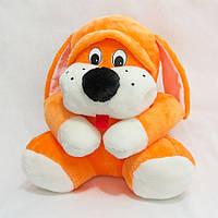 Мягкая игрушка Собака Пегус оранжевая