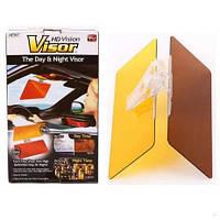 HD Vision Visor антибликовый солнцезащитный козырек для автомобиля (Clear View Антиблик) Клир Вью. Оптом