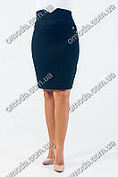 Классическая женская юбка с завышенной талией, Келли чёрная