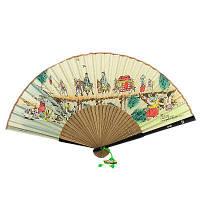 Корейский веер «Делегация знати» Разные цвета