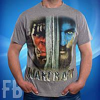 Мужские футболки с игрой Warcraft цвет белый, серый, черный, красный, синий, салатовый