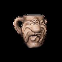 Кружка глиняная Мордочка №1 IA0123 Покутская керамика