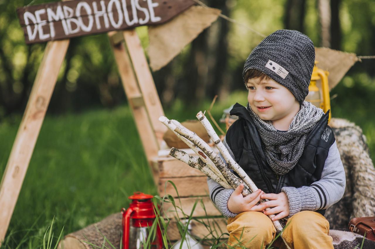 Детская шапка (набор) НЭШ для мальчиков оптом размер 48-50-52