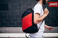 Рюкзак, PUNCH, черно-красный, спортивный рюкзак, стильный, молодежный рюкзак