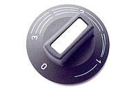 Ручка для термостата, черная, 50х23мм, с градуировкой 0-3 (хвост кометы), под шток 4,6х6мм (Германия)