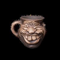 Кружка глиняная Мордочка №2 IA0223 Покутская керамика