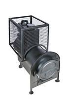 Банная печь с квадратной сеткой с выносной топкой, фото 2