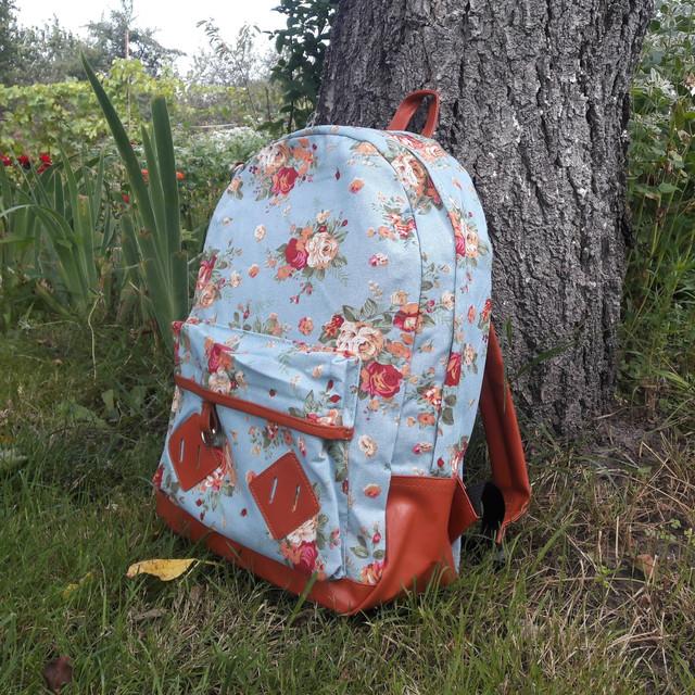 Стильный женский рюкзак из холста