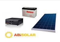 Комплект автономного бесперебойного электроснабжения (ИБП+солнце), 1000 Вт