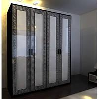 Шкаф 4Д Бася Новая олимпия глянец (Світ Меблів TM)