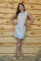 Женское вышитое платье-футляр П01/21-241