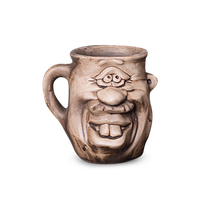 Кружка глиняная Мордочка №4 IA0423 Покутская керамика
