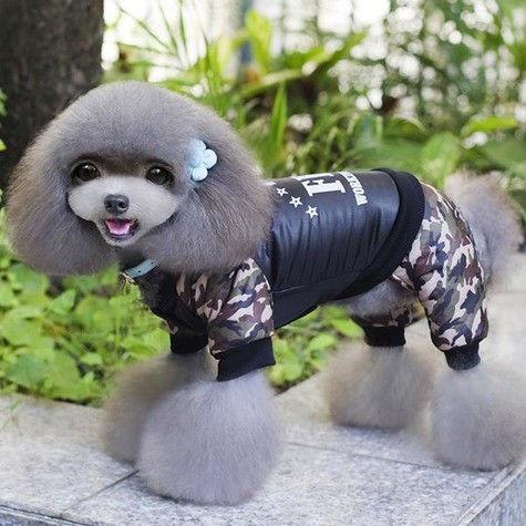 Теплый зимний комбинезон для собак UK Pet Puppy Dogs FBI