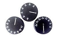 Ручка для термостата, черная, 43х14мм, с градуировкой 50-190, под шток 4,6х6мм (Италия)