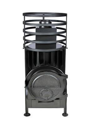 Малая банная печь с круглой сеткой без выносной топки, фото 2