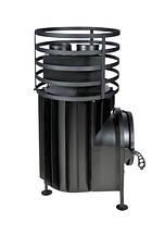 Малая банная печь с круглой сеткой без выносной топки, фото 3