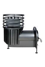 Банная печь с круглой сеткой большая с выносной топкой, фото 3