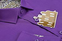 """Стильна фіолетова сорочка для хлопчика в школу """"Княжич"""""""