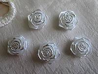 Серединка розочка  срібло