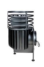 Малая банная печь с круглой сеткой из нержавеющей стали без выноса, фото 3