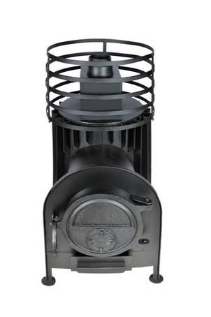 Малая банная печь с круглой сеткой из нержавеющей стали с выносом, фото 2