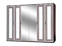 Шкаф 6Д Бася Новая олимпия глянец (Світ Меблів TM)