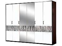Шкаф 6Д Бася Новая нейла глянец (Світ Меблів TM)