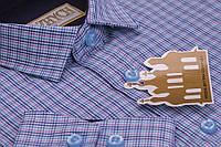 Стильная школьная рубашка в клетку под джинсы для мальчика