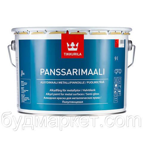 Краска алкидная Панссаримаали  Тиккурила для оцинкованных, алюминеевых, стальных поверхностей база С 9 л