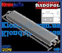Radopol внутристенный конвектор 4х трубный 115х115х400 мм
