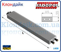 Radopol внутристенный конвектор 4х трубный 115х115х600 мм