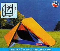 Двухслойная двухместная палатка Coleman 1008 с москитной сеткой