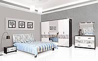 Спальня 6Д Бася Новая нейла глянец (Світ Меблів TM)