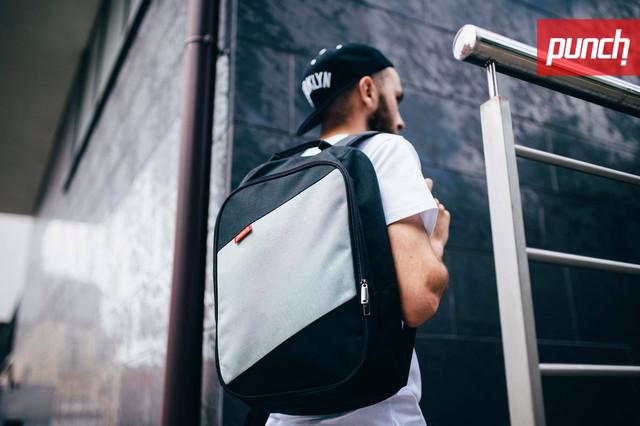 Рюкзак Punch блек грей ( серый)