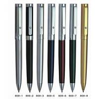 Ручка металлическая поворотная BAIXIN BP809 (серебро+синий/красный/зеленый/черный), фото 1