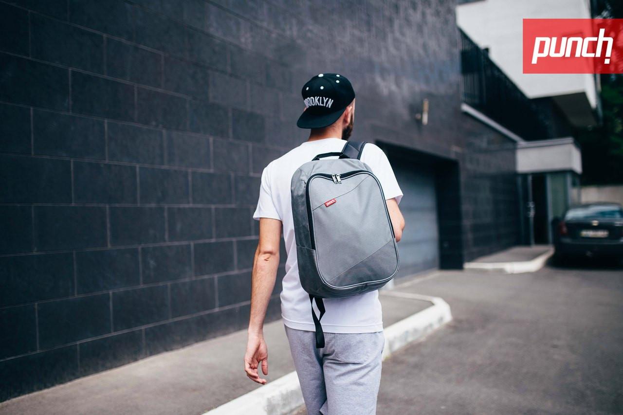 Городской рюкзак Punch Grey, серый, спортивный рюкзак