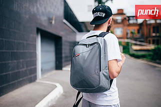Городской рюкзак Punch Grey, серый, спортивный рюкзак, фото 2