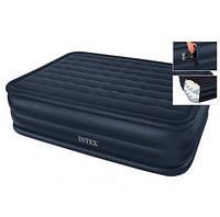 Двуспальная надувная кровать 66718 Intex (152х203х56 см. ) + встроенный насос 220V