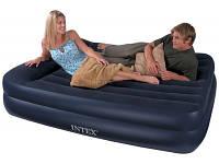 Intex 66702 кровать надувная 203х152х42 с встроенным насосом
