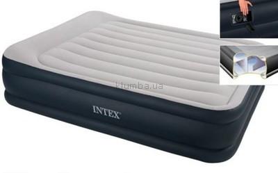 Кровать Intex 64136 надувная 203 х 152 х 42 см со встроенным насосом 220V