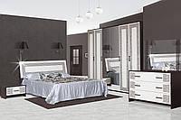 Спальня 6Д Бася Новая олимпия глянец (Світ Меблів TM)