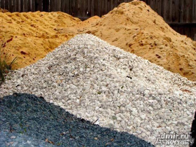 Цемент, щебінь, пісок