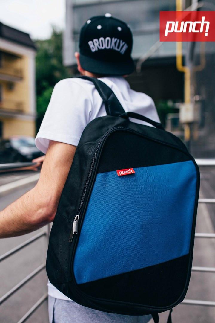 Рюкзак Punch Black Blue, городской, спортивный