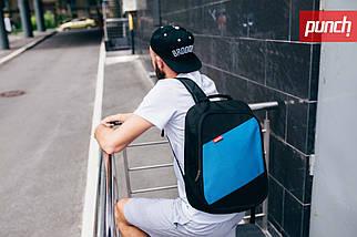 Рюкзак Punch Black Blue, городской, спортивный, фото 2