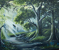 «Сказочный лес» картина маслом