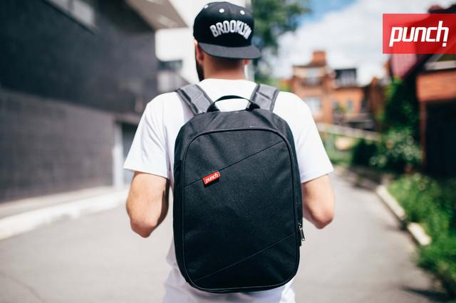 Рюкзак Punch черный крипт