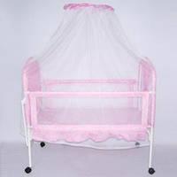 Кроватка для малышей металлическая, 9356