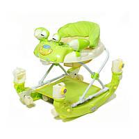 Детские ходунки Baby Tilly 22088 улитка с качалкой зелёные